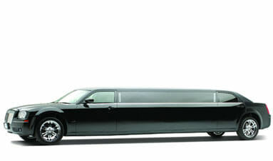 10 Passenger Black Chrysler 300 Limousine-featured