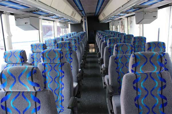 55 passenger coach bus interior